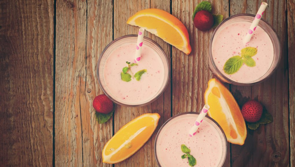 smoothie fragole e arance