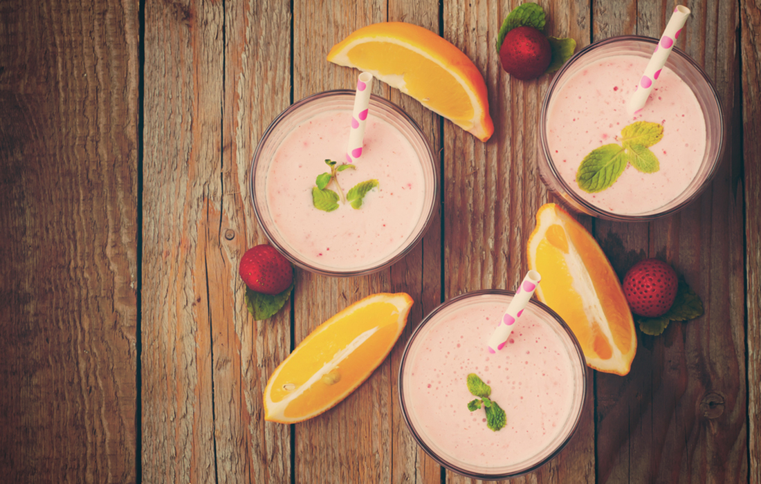 smoothie di fragole e arance