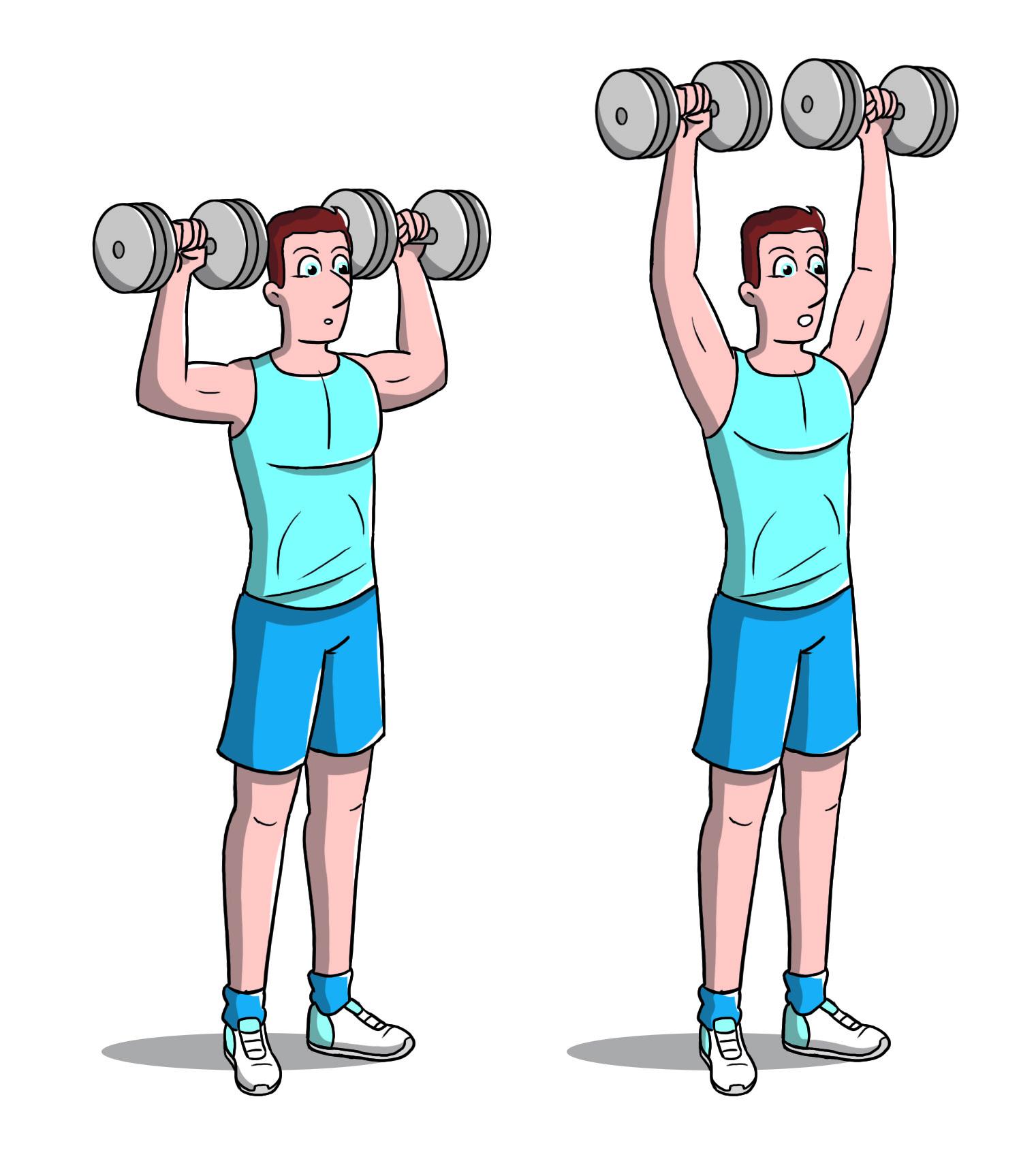Workout full body entraîner avec haltère