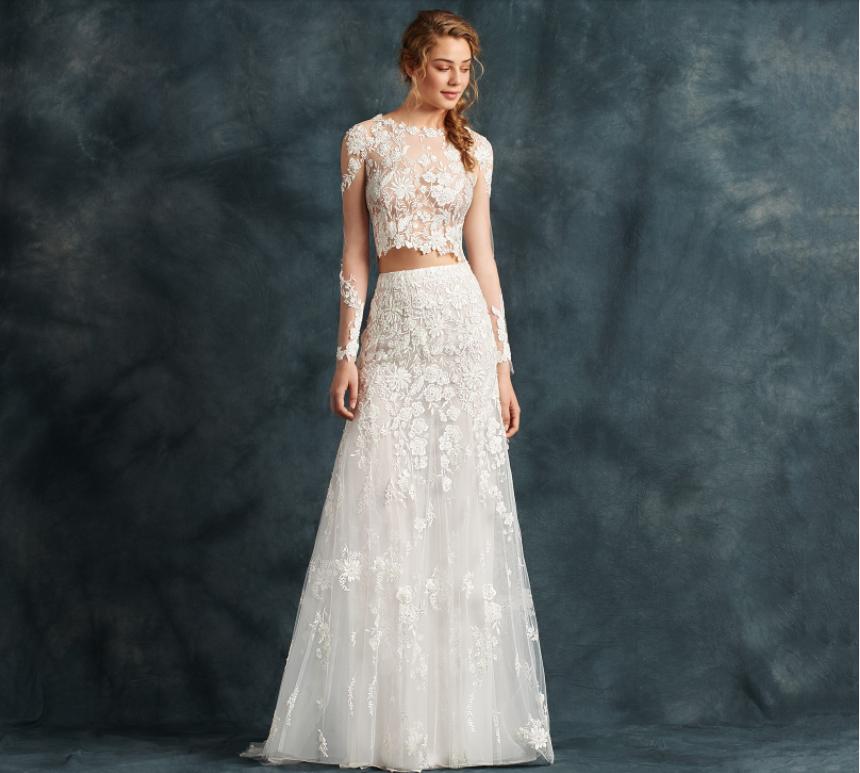 tendenze vestito da sposa modelli 2 pezzi