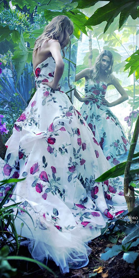 tendenze vestito da sposa 2017- vestito colorato Alessandro Angelozzi