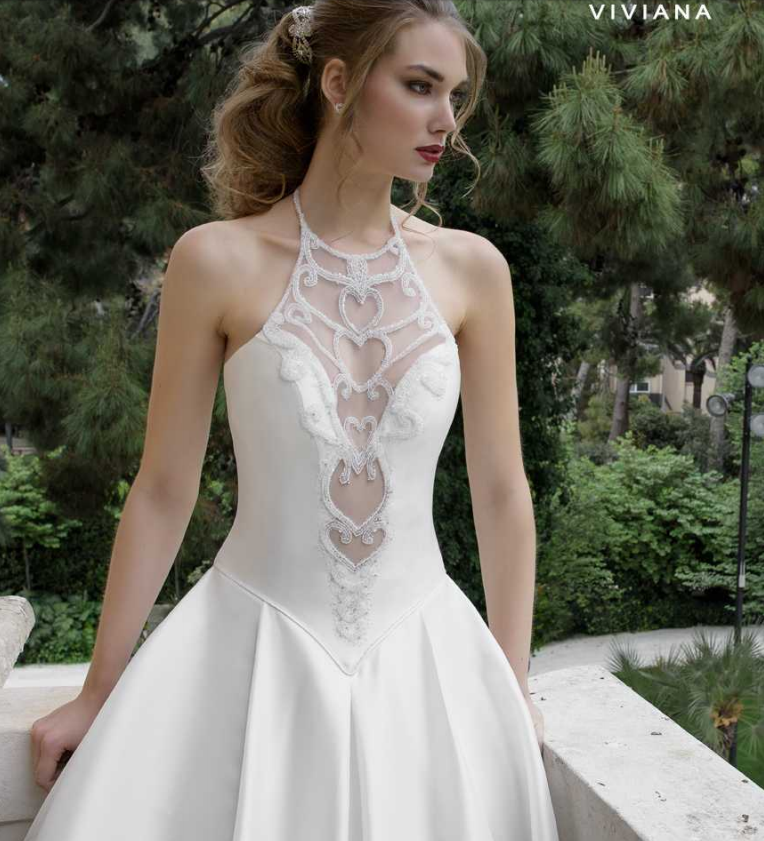 tendenze vestito da sposa 2017, scollature illusion