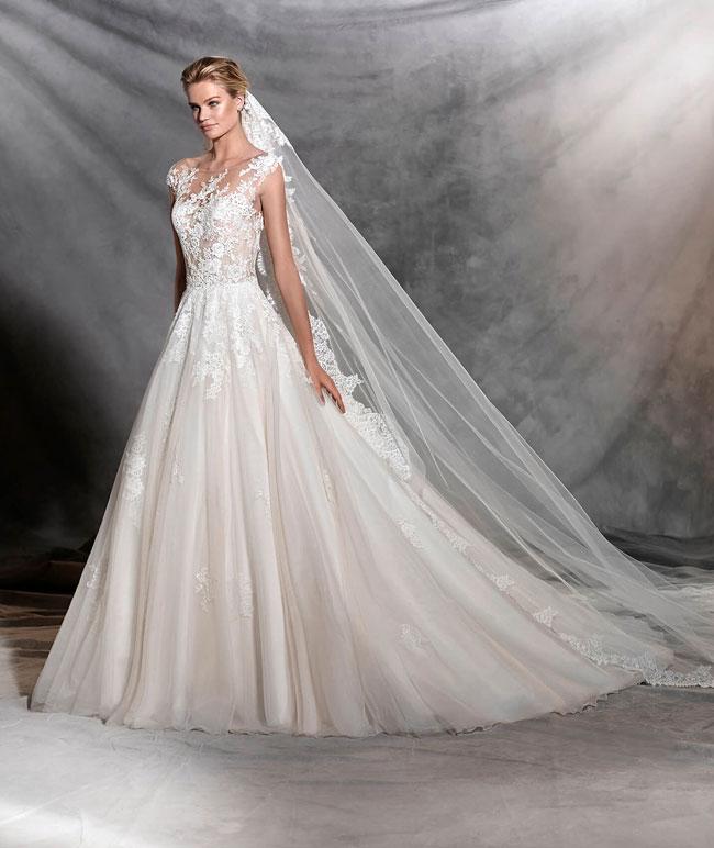 tendenze vestito da sposa principessa 2017: pronovias