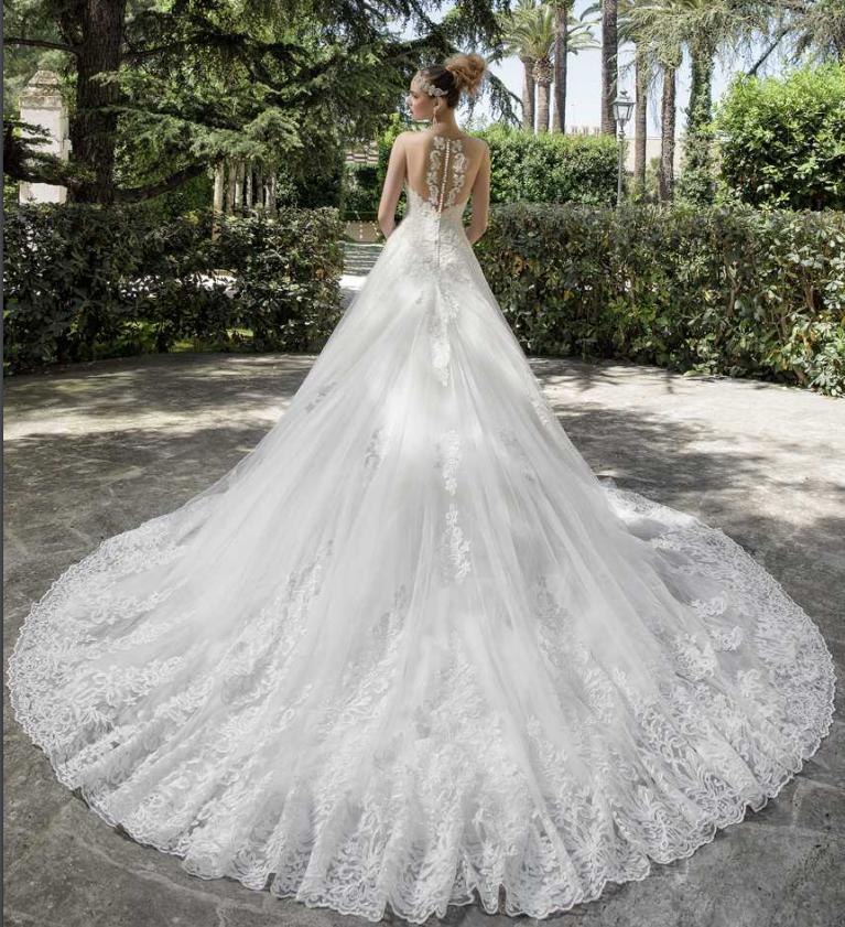 tendenza vestito da sposa 2017, vestito a sirena Dalin