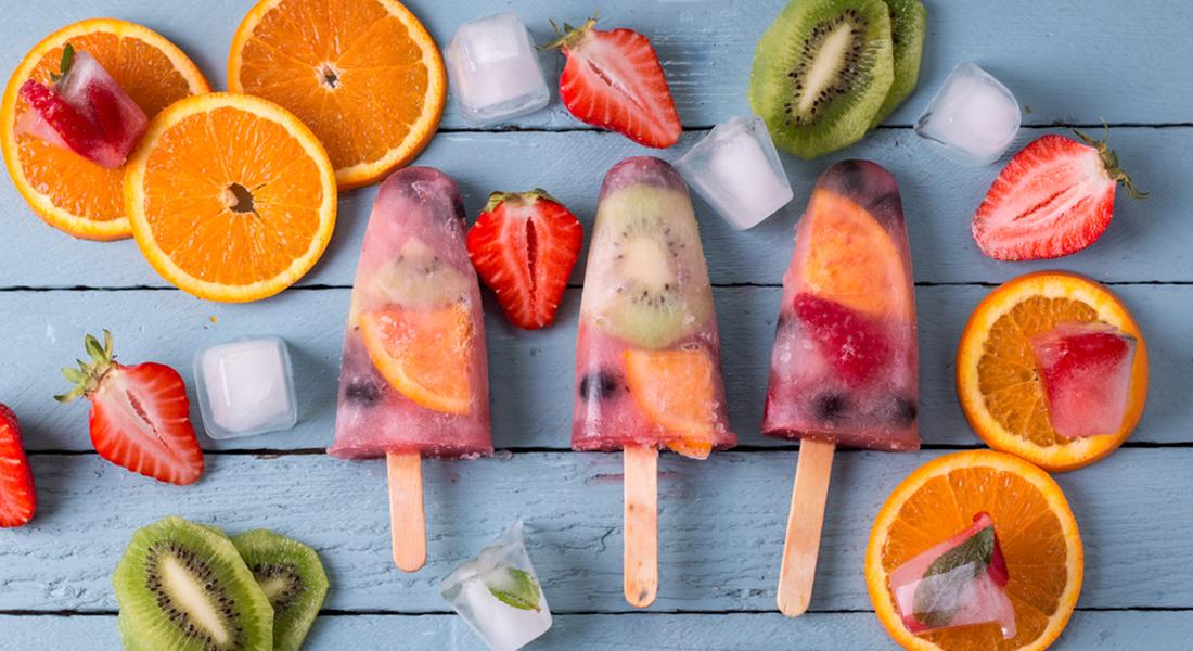 cibi anti-afa: ghiaccioli allo yogurt e frutta