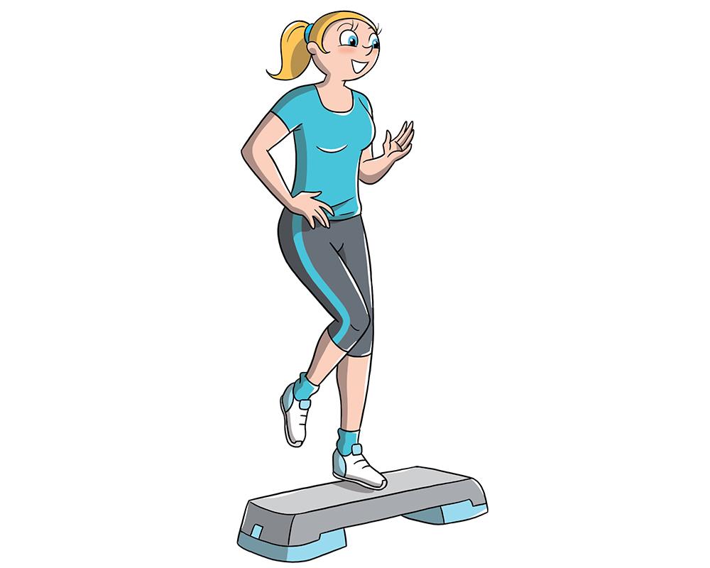 allenamento con lo step: esercizio cardiovascolare
