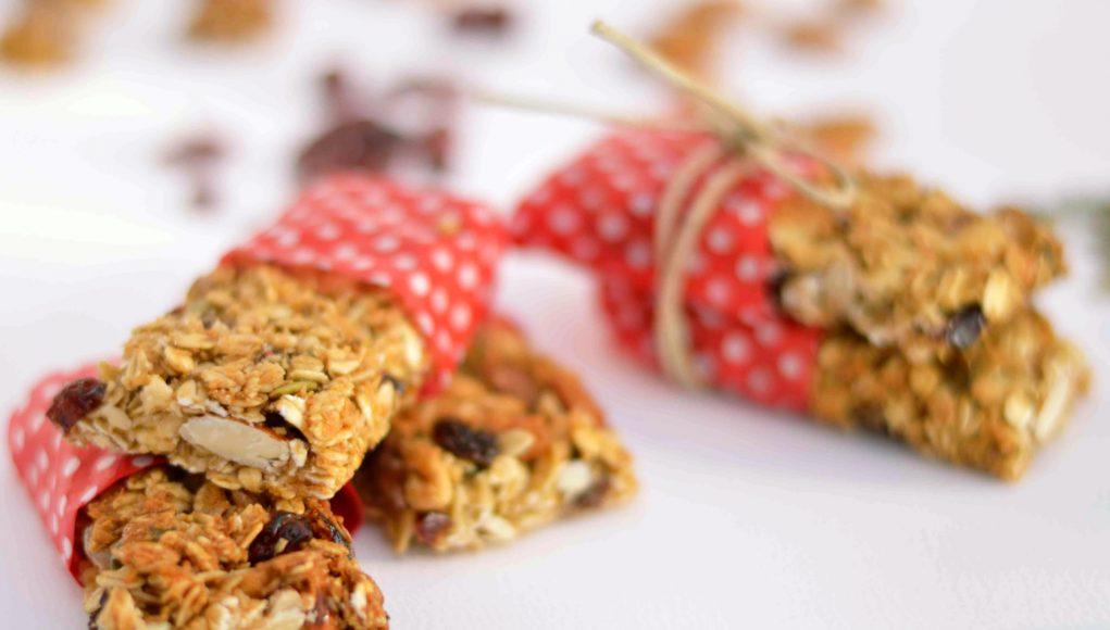ricette con uva: barrette di cereali