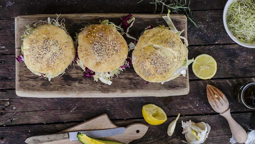 dieta del panino: hamburger di pollo e ricotta