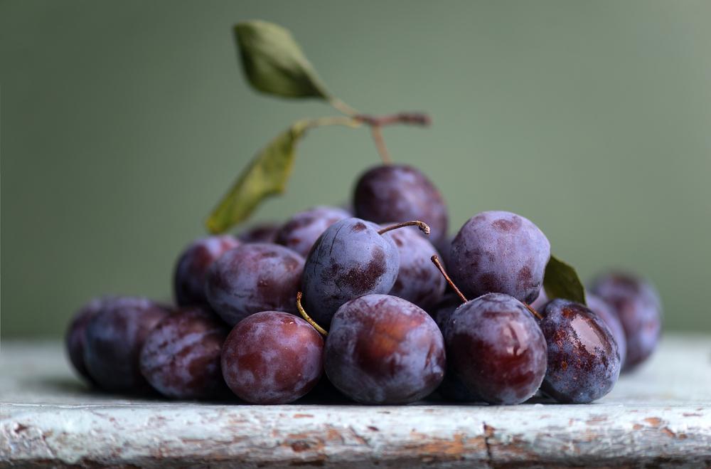 la frutta di giugno, prugne e susine