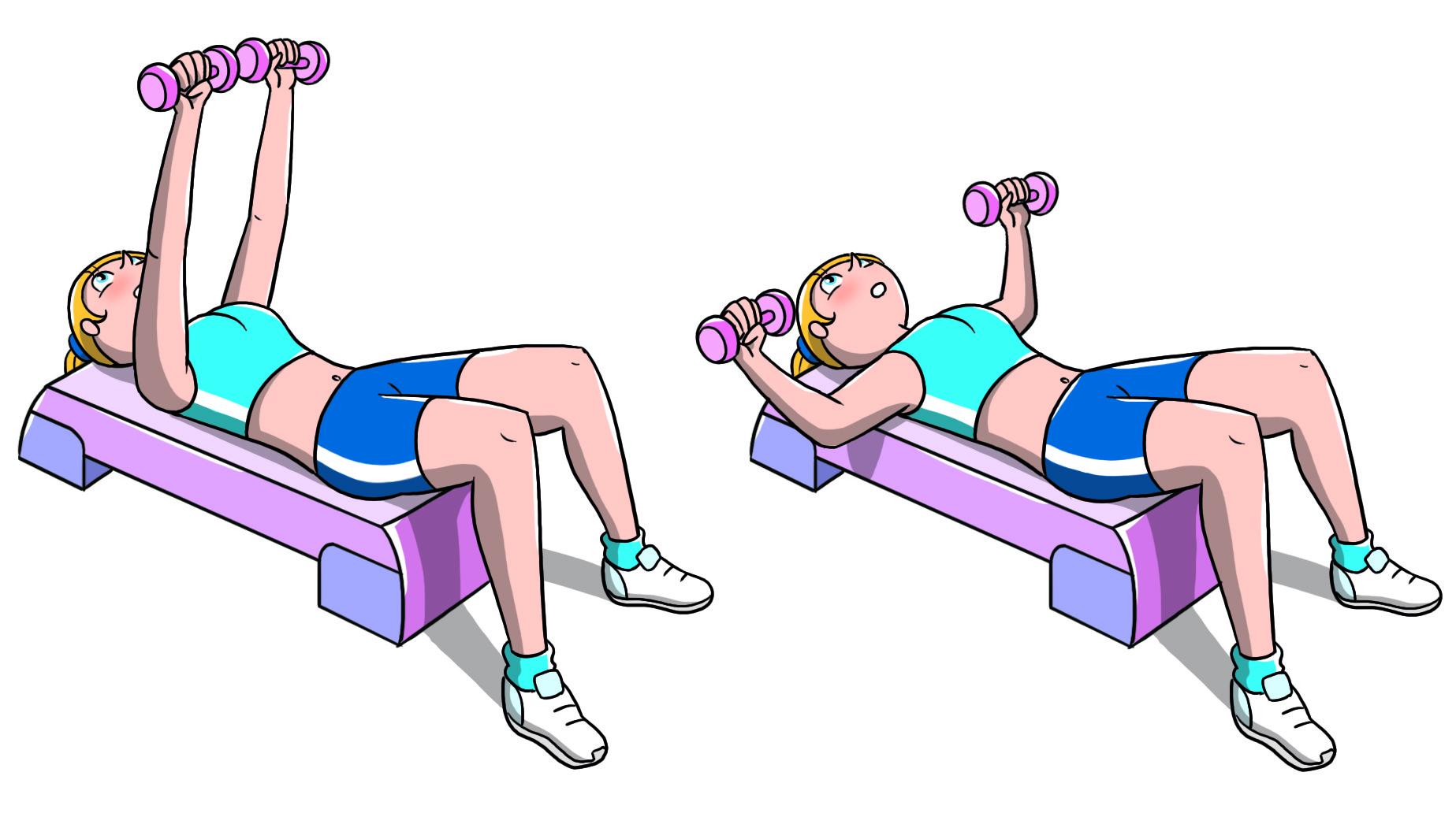 allenamento con lo step petto