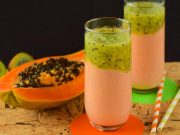 Smoothie kiwi e papaya