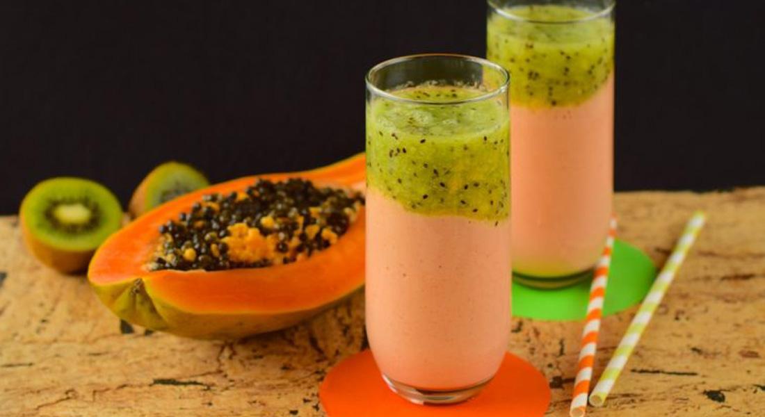 Smoothie kiwi e papaya