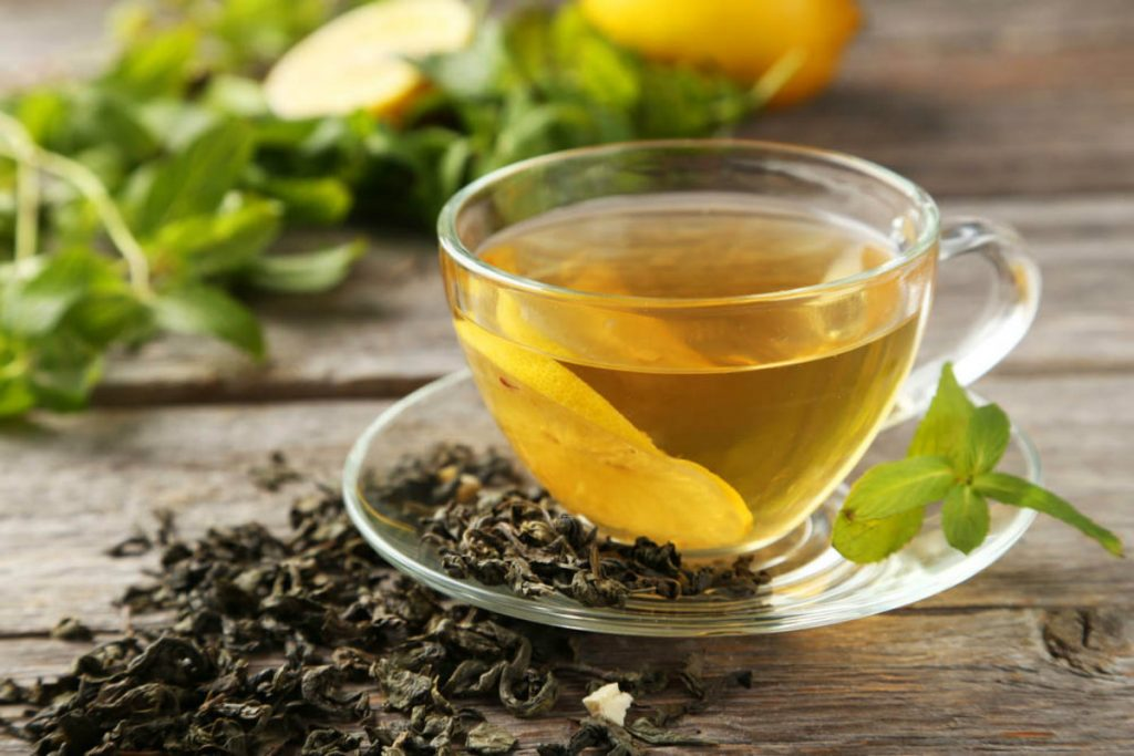 acque aromatizzate, té verde