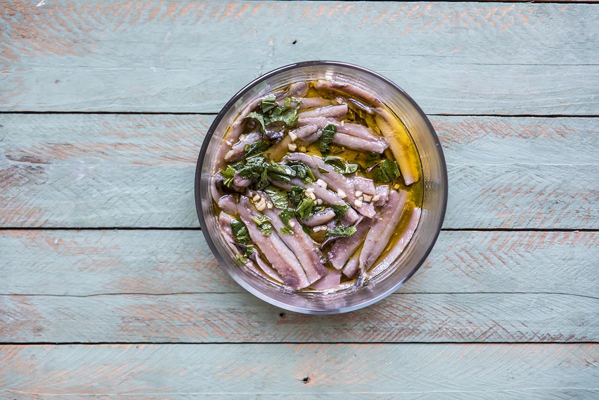 secondi piatti veloci: alici marinate