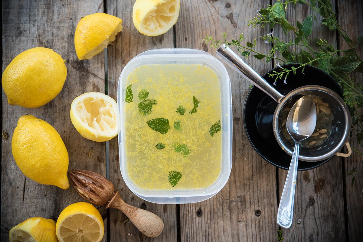 granita limone e menta