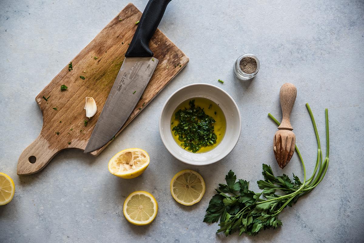 preparazione insalata di polpo