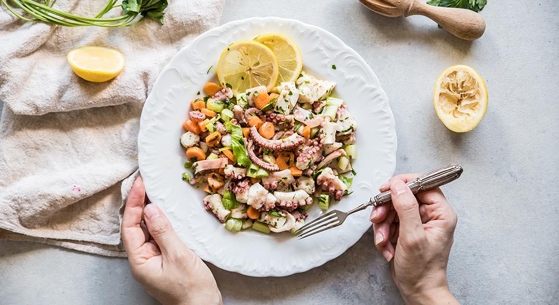 ricette per combattere il caldo:insalata di polpo