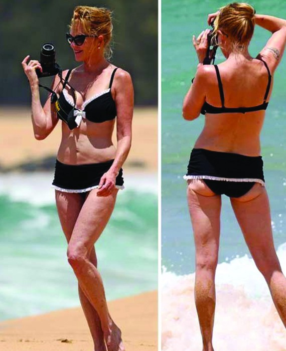 Melanie Griffith, vip senza photoshop in costume da bagno