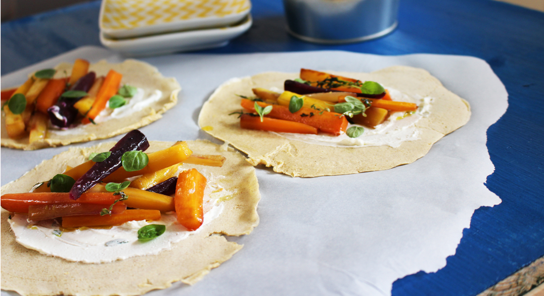 Timo: come preparare una omelette con caprino senza glutine, leggera e saporita.