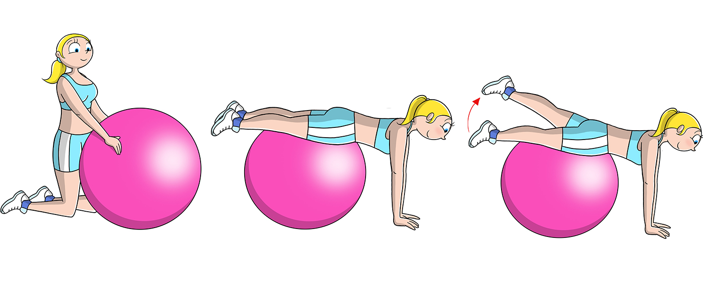 palla fitness, esercizi per gli addominali