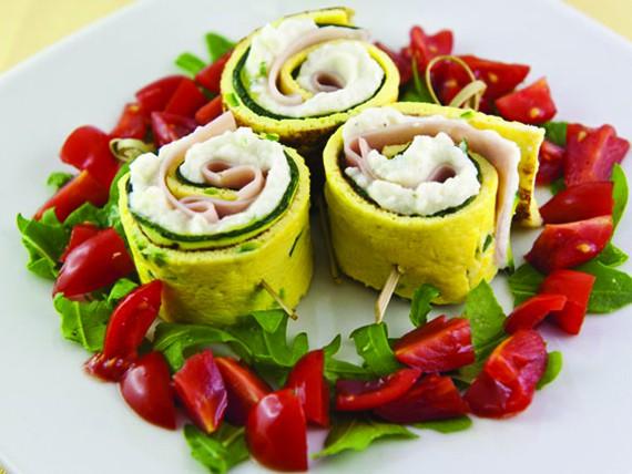 ricette con zucchine, rotolini fantasia