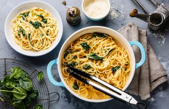 spaghetti e spinaci