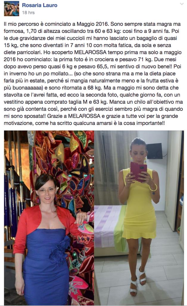 Testimonial Melarossa: Rosaria