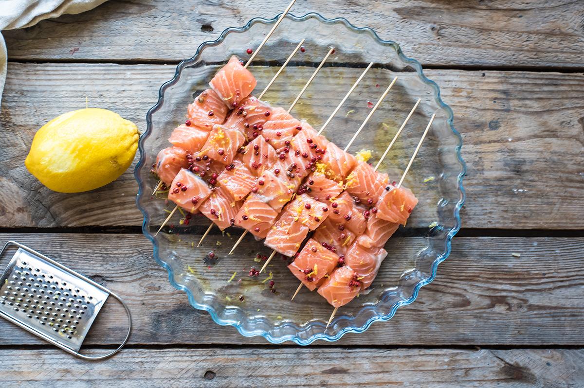 ricette salmone al pepe rosa
