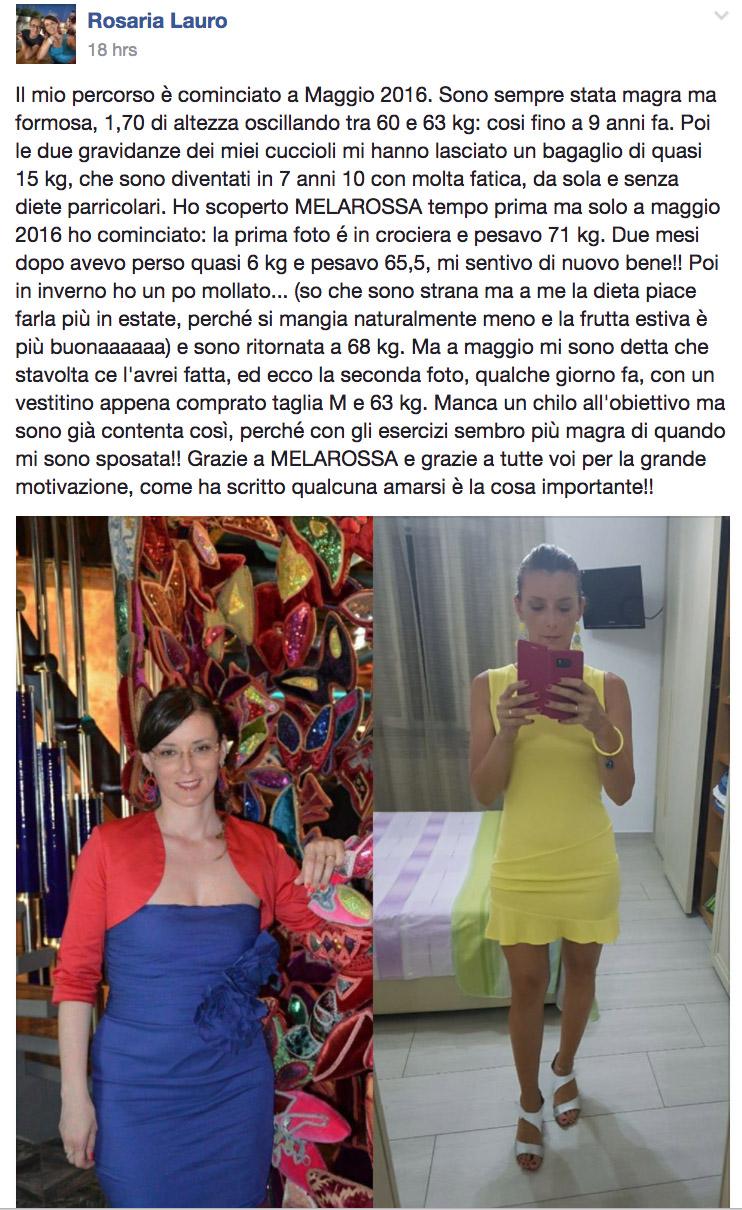 dieta melarossa rosaria 8 kg post facebook
