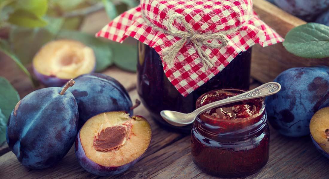 Ricetta della marmellata di prugne fresche
