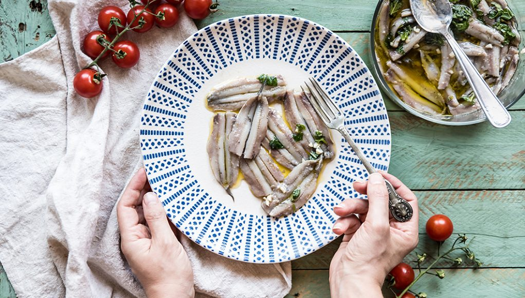 Ricette economiche: alici marinate
