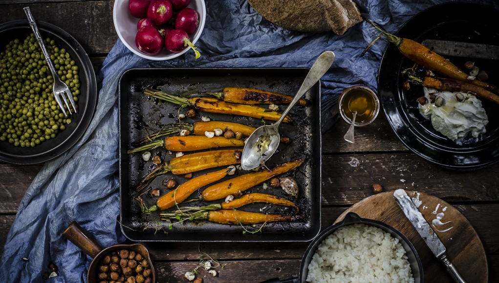 Ricette economiche: le carote arrostite con miele e timo