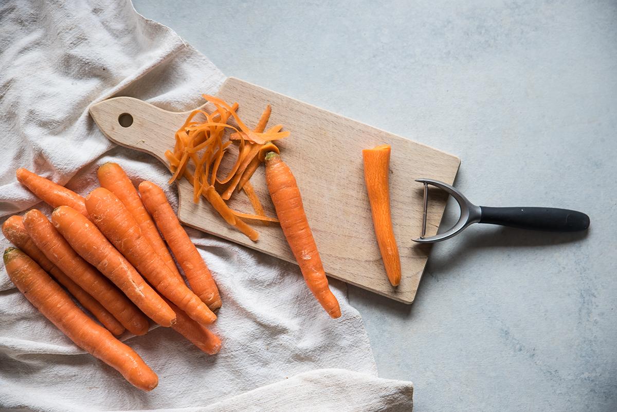 carote in agrodolce sotto vetro