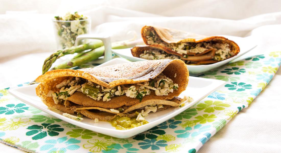 Le crêpes di grano saraceno, gustose e leggere, sono adatte anche ai celiaci.