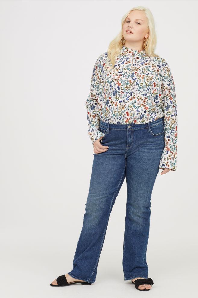 jeans bootcut per taglie forti