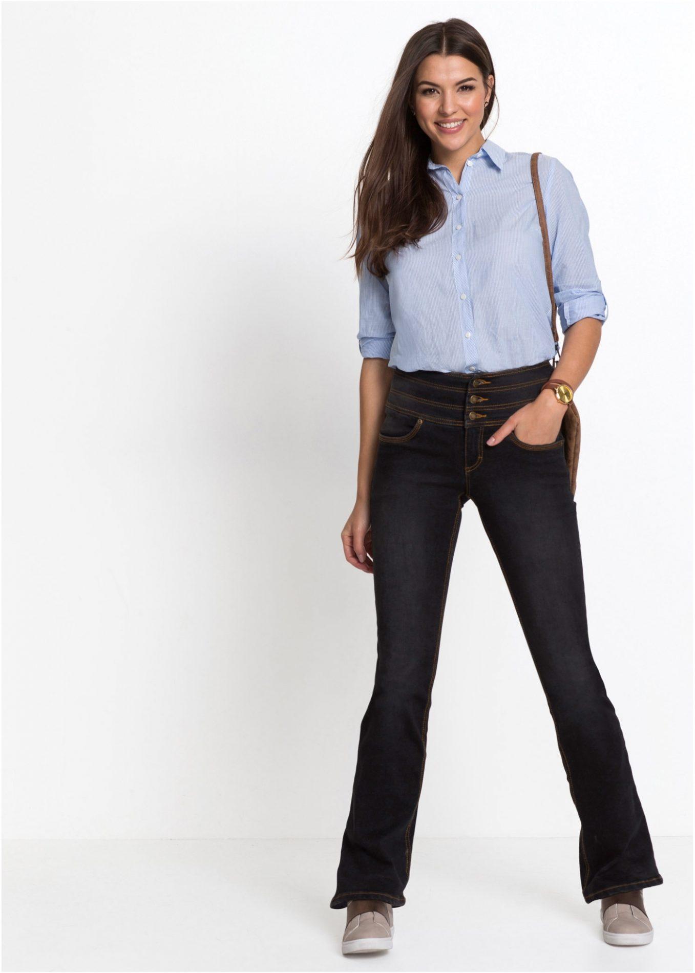 jeans elasticizzata pancia piatta per taglie forti
