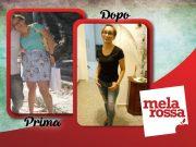 Meri prima e dopo la dieta Melarossa