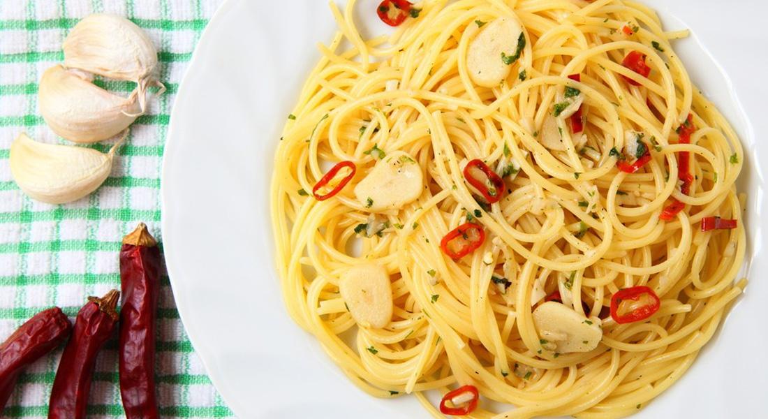 La ricetta della pasta aglio, olio e peperoncino