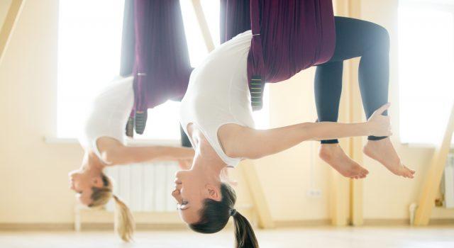 Pilates aereo, il fitnesss antigravity