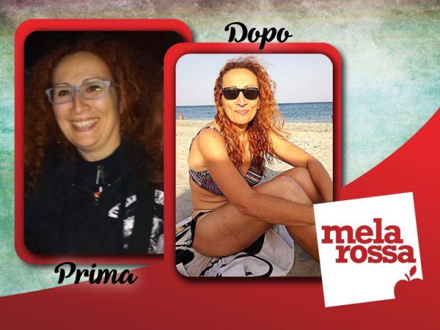 Simona prima e dopo la dieta Melarossa