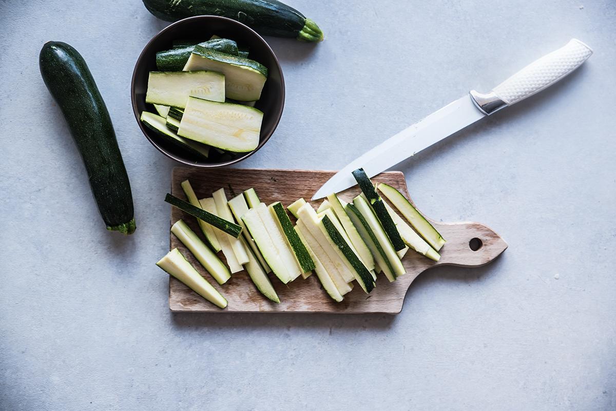 zucchine sott'olio fase 1