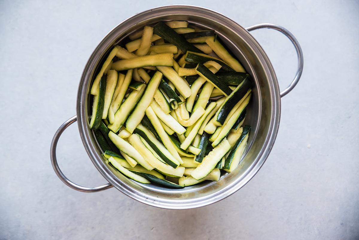 zucchine sott'olio fase 3