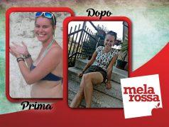 Alessandra prima e dopo la dieta Melarossa