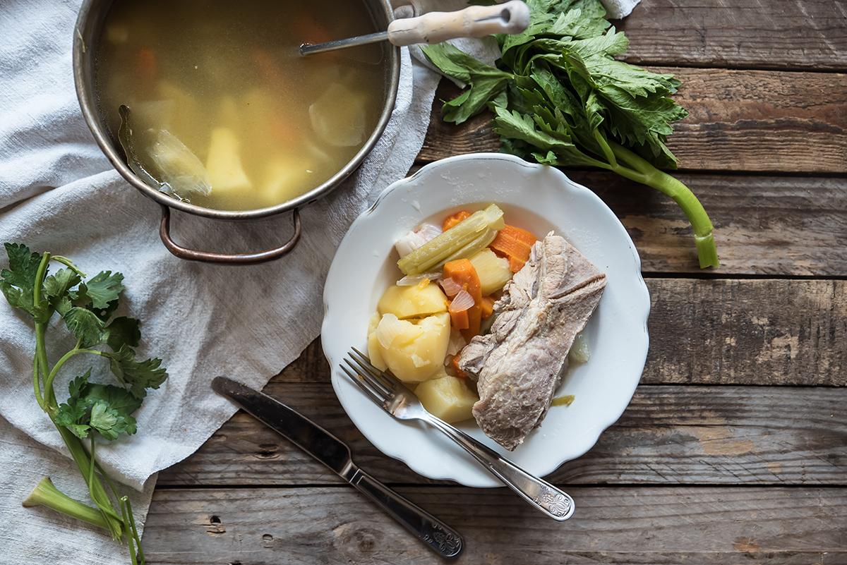 bollito di verdure e carne
