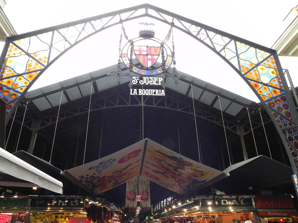 mercato della Boqueria a Barcellona