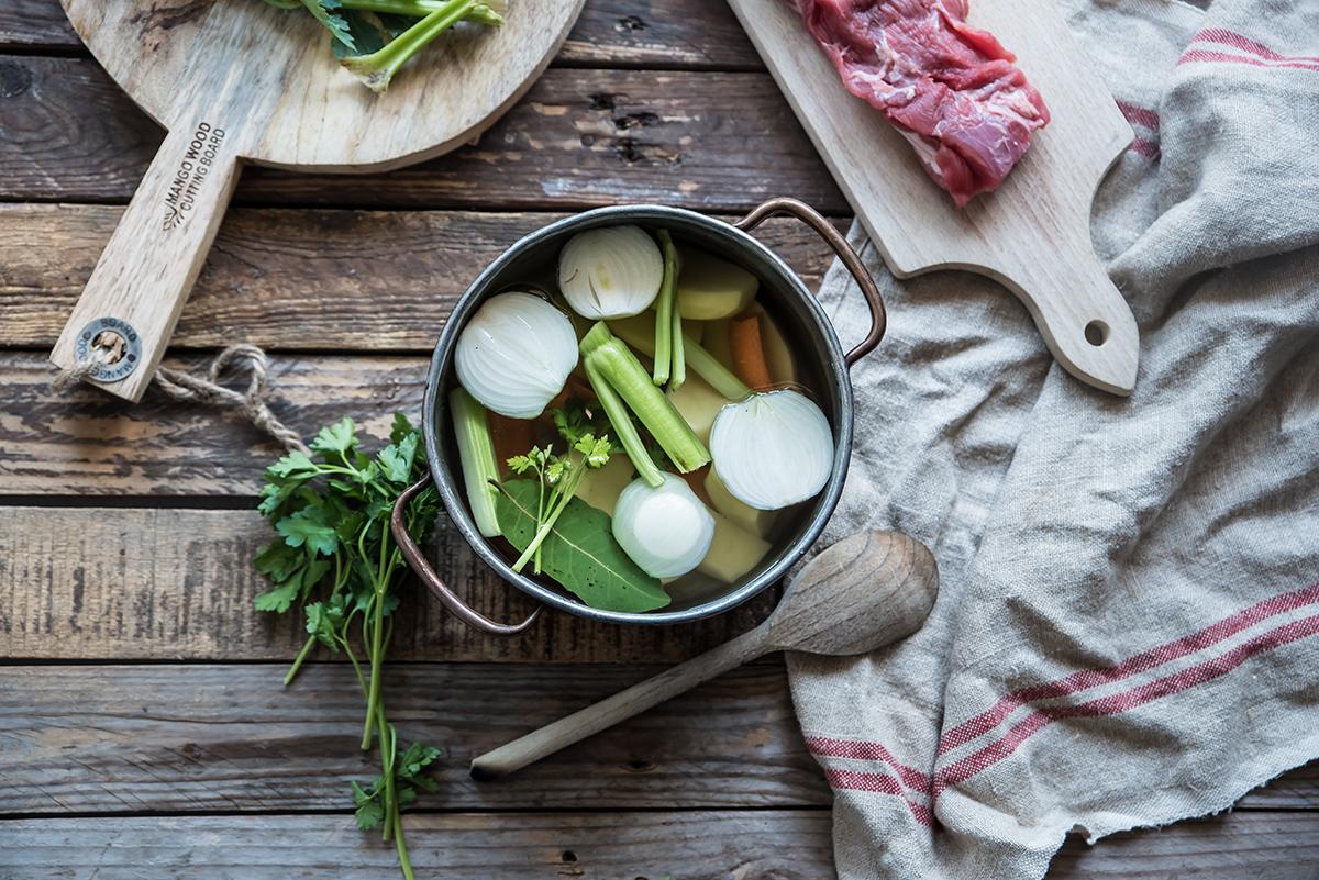 carne bollito con verdure