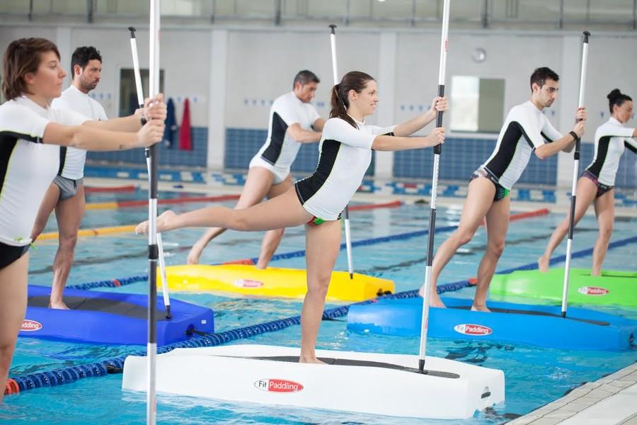 fit paddling: nuova disciplina in piscina per tonificarti