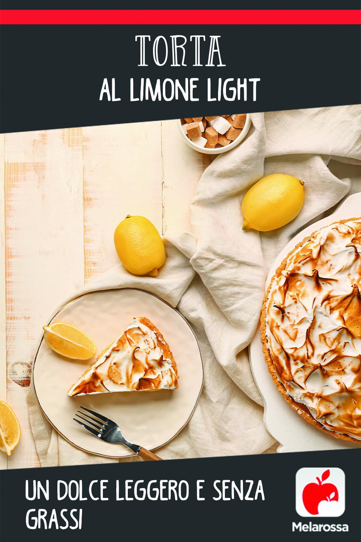 Ricetta torta al limone light