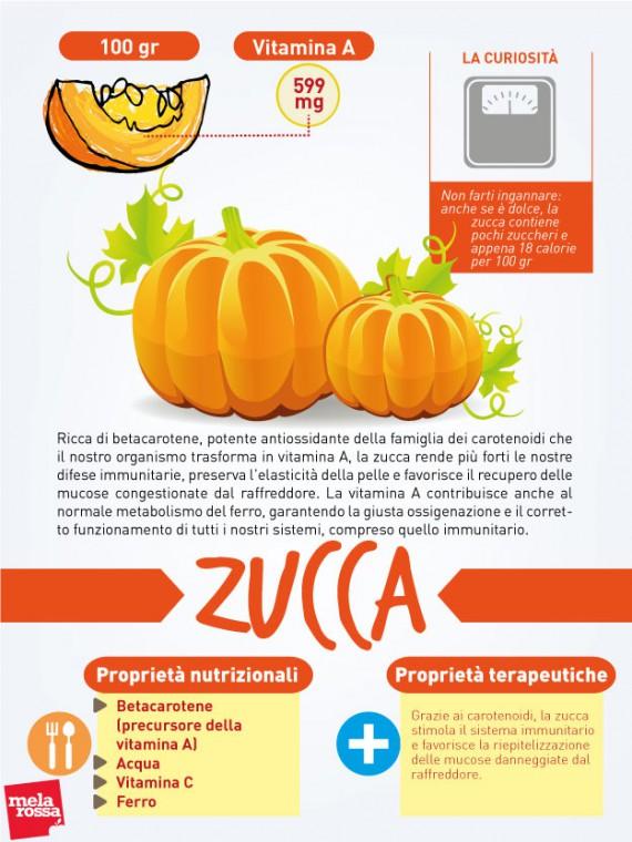zucca: proprietà nutrizionali