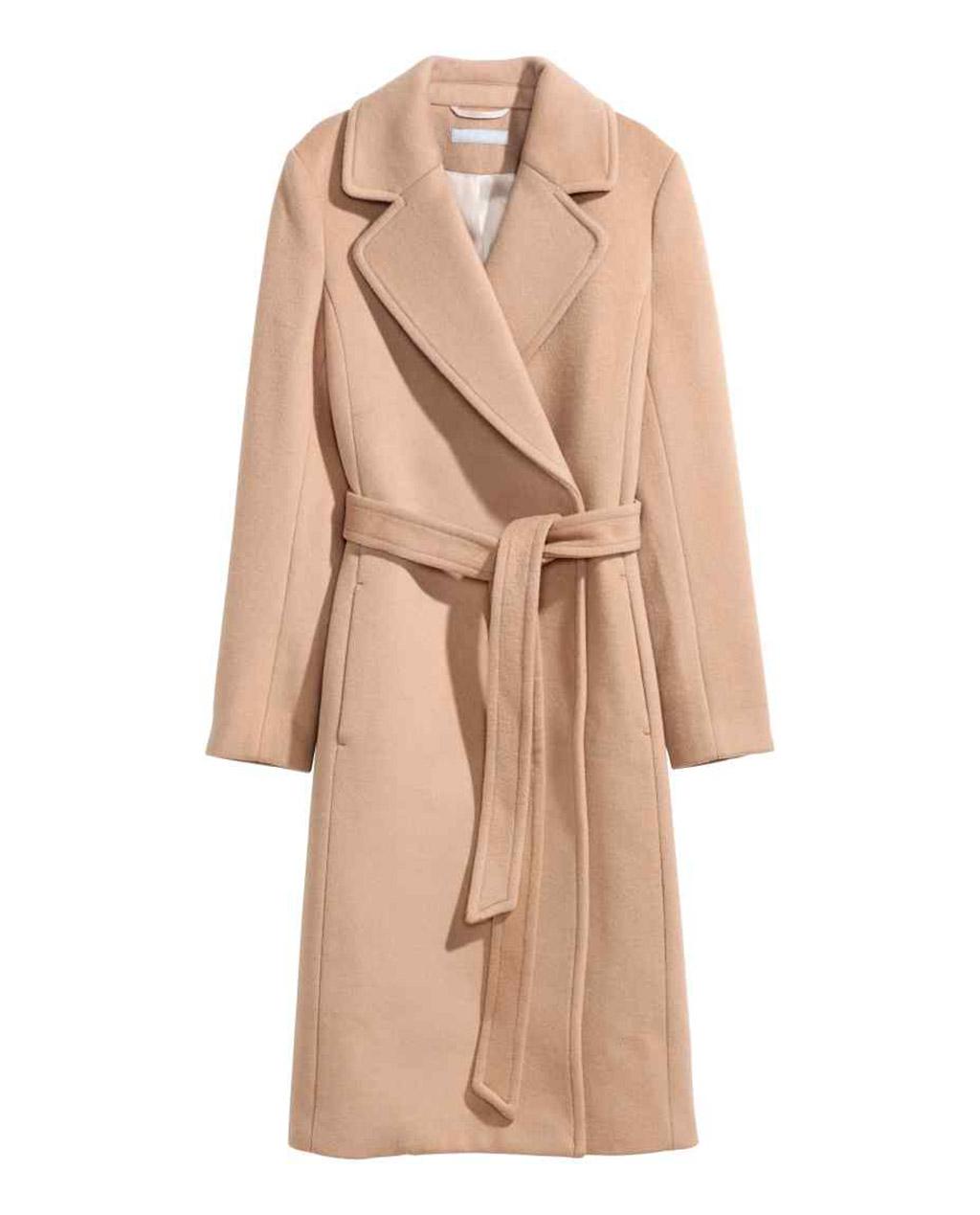 Cappotto aderente in morbido feltro di misto lana h&m